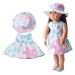 Digood For 18 inch American Girl Doll Fashion Summer Sleevel