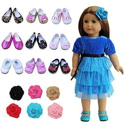 ZITA ELEMENT Doll Shoes -1 Head Flower+ 5 Doll Shoes fits fo