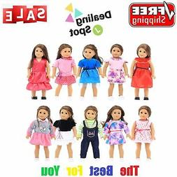 18 inches Doll Clothes 10 Different Unique Styles Well Fit f