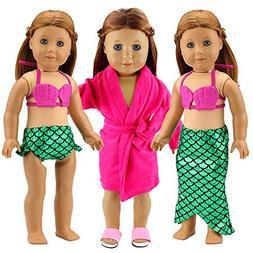 Barwa 18 Inch Doll Clothes Accessories 2 Sets Princess Merma