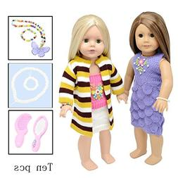 Doll Clothes Accessories for American Girl Wardrobe Makeover