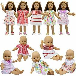 ZITA ELEMENT Baby Doll Clothes - 5 Sets Handmade Dresses Cut