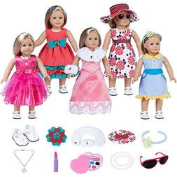 18 Inch Doll Clothes Fits for American Girl Dolls