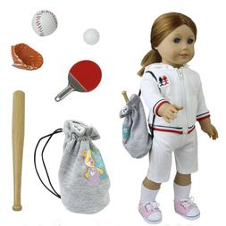 American Girl Doll 6 PCS Portable Baseball Set & Ping Pong E