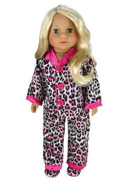 Doll Clothing for 18 Inch Doll Pajama Set & Doll Slippers, 3