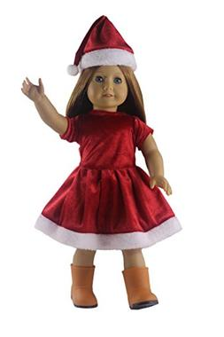 Doll Clothes FOR 18'' American Girl Christmas Xmas Costume U