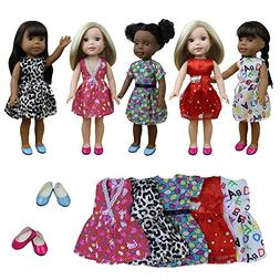 ZITA ELEMENT Doll Clothes- Lot 7= 5 Daily Costumes Gown Clot