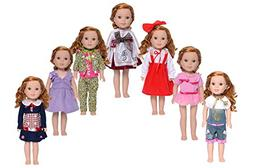 XADP Doll Clothes for American Girl Dolls,7 Sets Clothes for