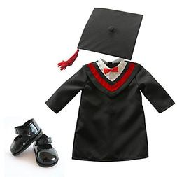 18 inch Doll Clothes,Dolls School Graduation Gown with Cap D