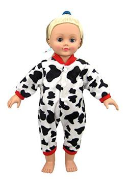 Shero Doll Clothes - Cow Pattern Rompers Fits American Girl