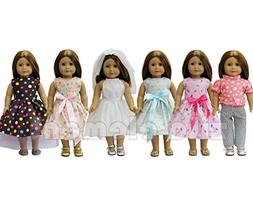 ZITA ELEMENT Doll Clothes- LOT 6 Daily Costumes Gown Clothes