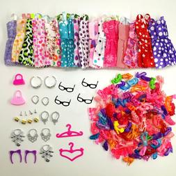 Doll Accessories Clothes Shoes Necklace Glasses For Barbie D