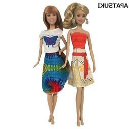 Doll Accessories Fashion Costume Movie Princess Moana Dress