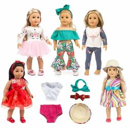 ebuddy 12pc Doll Clothes Accessories with Popular Elements H