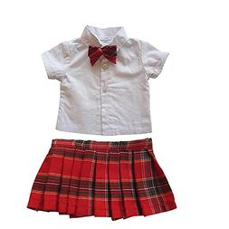 18 inch Girl Doll Clothes Back to School Outfits,Short Sleev
