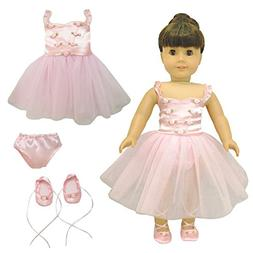 Doll Clothes Ballet Ballerina Outfit Fit American Girl & Oth
