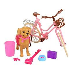 Barwa Pink Doll Bicycle and Dog Puppy Pet with Puppies for B