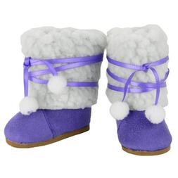 18 Inch Doll Boots, Purple Ewe Boots, Fits 18 Inch American