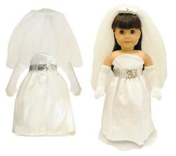 Doll Clothes Bridal Communion Dress Fit American Girl 18 Inc