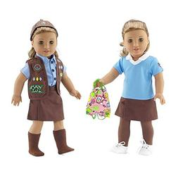 Emily Rose 18 Inch Doll Clothes   Modern Brownie Girl Scout