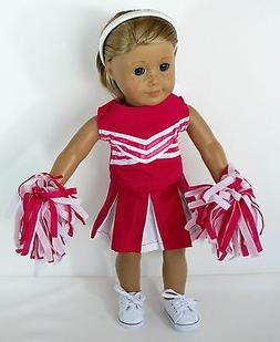 """DOLL CHEERLEADER OUTFIT NO SHOES FOR 18"""" AMERICAN GIRL DOLL"""