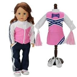 18 Inch Doll Cheerleader Sports 5 Pc. Set. Doll Clothing Fit