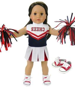 18 Inch Doll Cheerleading Set 4 Pc. Set by Sophia's, Fits 18
