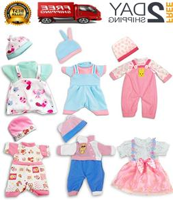Doll Clothes,12 inch Baby Doll Clothes 6 Sets Include 5 Caps