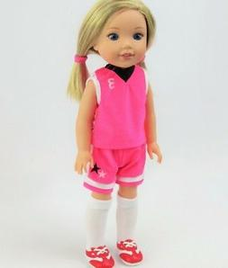 """Doll Clothes 14.5"""" Basketball Shorts Top Shoes Fit 14.5"""" AG"""