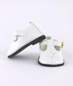 """Doll Clothes 14.5"""" Shoes White Mary Jane Fits 14.5"""" AG Welli"""