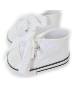"""Doll Clothes 14.5"""" Sneakers Canvas Shoes White Fits 14.5"""" AG"""