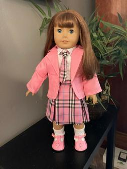"""Doll Clothes 18"""" and American Girl pink school outfit  with"""