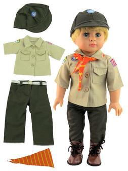 """Doll Clothes 18"""" Boy Scout Outfit Uniform For American Girl"""
