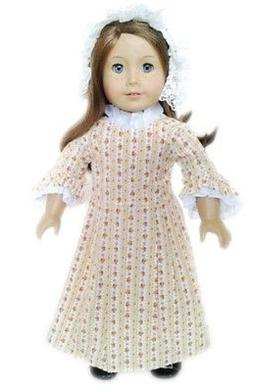 """Doll Clothes 18"""" Doll Colonial Dress Fits American Girl Doll"""