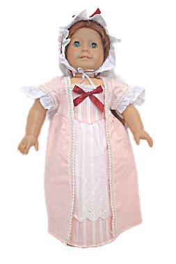 doll clothes 18 doll colonial dress pink