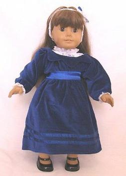 """Doll Clothes 18"""" Doll Victorian Dress Blue Fit American Girl"""