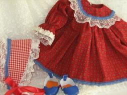 """Doll Clothes 18"""" Doll Victorian Dress Mauve White Fit AG Dol"""