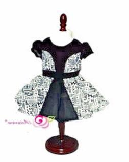 "Doll Clothes  18"" Dress Black White Tribal Arianna Fits Amer"