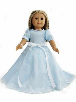 """CLEARANCE! Snowflake Queen Dress /& Tiara fits American Girl or Other 18/"""" Dolls"""
