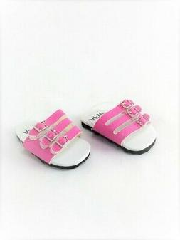"""Doll Clothes 18"""" Sandals Shoes Strap Pink Fits American Girl"""