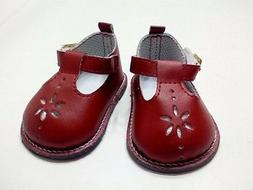 "Doll Clothes 18"" Shoes Red Mary Jane Fits American Girl Doll"