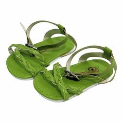 """Doll Clothes 18"""" Shoes Sandal Braided Green Arianna Fits Ame"""