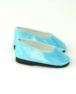 """Doll Clothes 18"""" Shoes Teal Fits American Girl Dolls"""