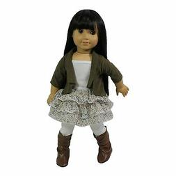 """Doll Clothes 18"""" Skirt Floral Top Jacket Leggings Arianna Fi"""