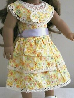 "Doll Clothes 1930s Summer Dress For 18"" American Girl Kit Re"