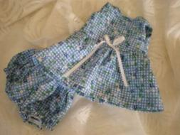 DOLL CLOTHES 4 BABY ALIVE SUN DRESS W/PANTIES BITTY blue che