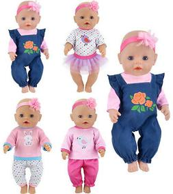 ebuddy Doll Clothes 4 Sets Include Jeans Tops Pants Headband
