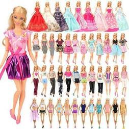 doll clothes 5pcs fashion dress 5 tops