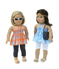 Doll Clothes 7 Pc Set Fits 18 Inches Doll Outfit Casual Top