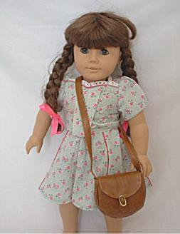 Doll Clothes Accessories - Brown Leather Look Shoulder Purse